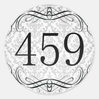 Código de área 459 pegatina redonda