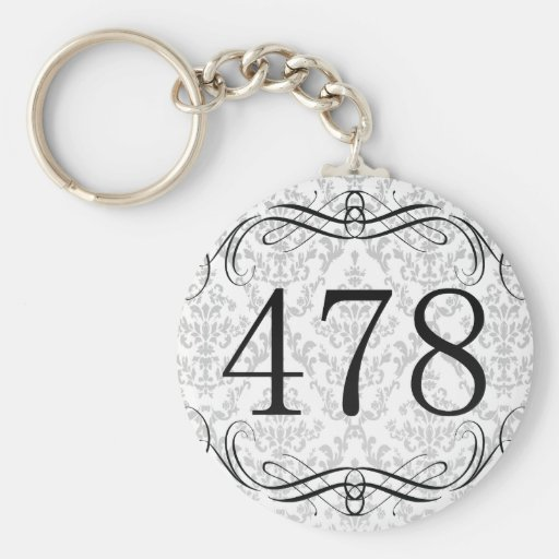 Código de área 478 llaveros
