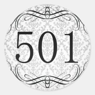 Código de área 501 pegatina redonda