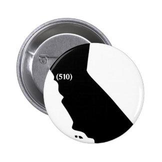 Código de área 510, California, área de la bahía Pins