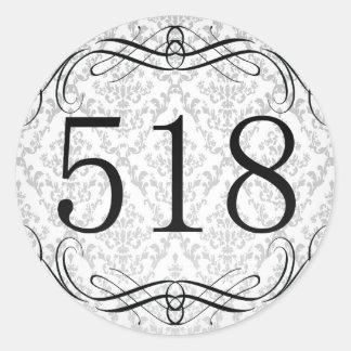 Código de área 518 pegatina redonda