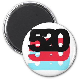 Código de área 520 imán redondo 5 cm