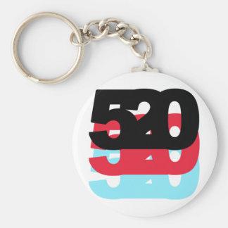 Código de área 520 llavero redondo tipo pin