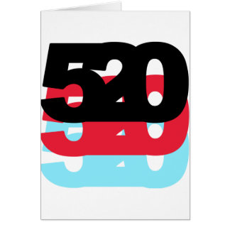 Código de área 520 tarjeta de felicitación