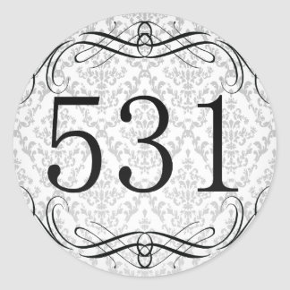 Código de área 531 pegatina redonda