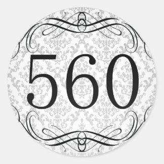 Código de área 560 pegatina redonda