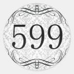 Código de área 599 etiqueta redonda