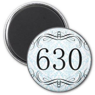 Código de área 630 imán redondo 5 cm