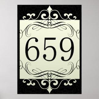 Código de área 659 posters