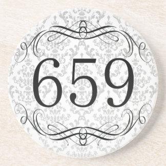 Código de área 659 posavasos diseño