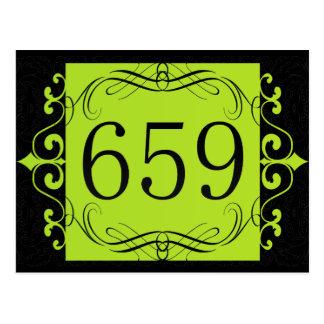Código de área 659 postales