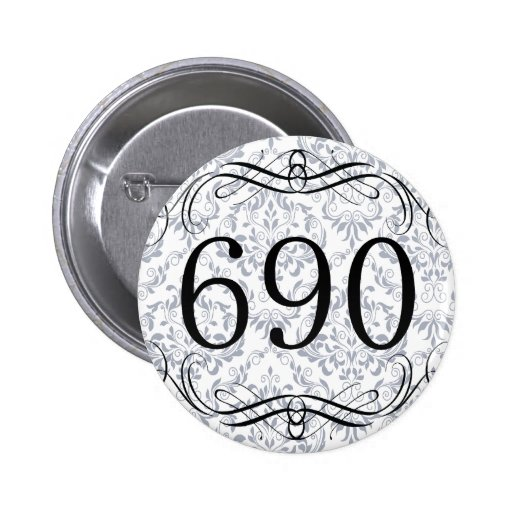Código de área 690 pin redondo 5 cm