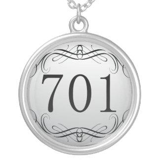 Código de área 701 collares personalizados