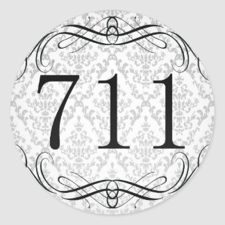 Código de área 711 pegatina redonda