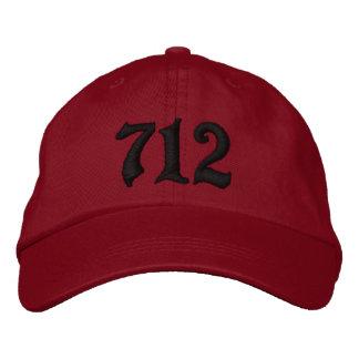 Código de área 712 Sioux City IOWA Gorra De Beisbol Bordada