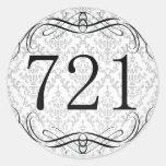 Código de área 721 pegatinas redondas