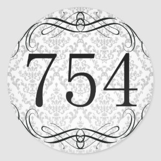 Código de área 754 pegatina redonda