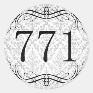 Código de área 771 pegatina redonda