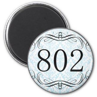 Código de área 802 imán de frigorífico
