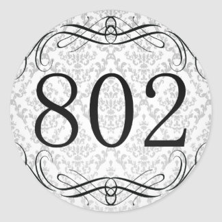 Código de área 802 pegatina redonda