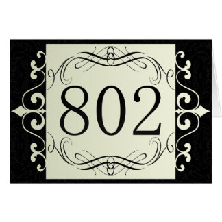Código de área 802 tarjeta