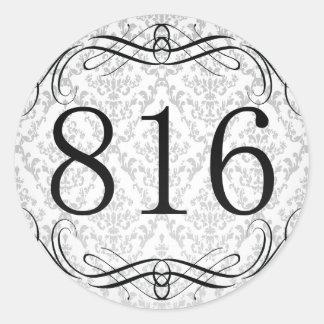Código de área 816 pegatina redonda