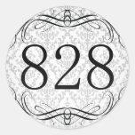 Código de área 828 pegatinas redondas
