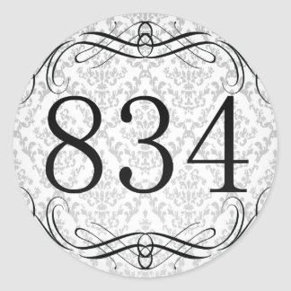 Código de área 834 pegatina redonda