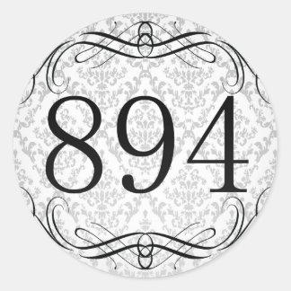 Código de área 894 pegatina redonda