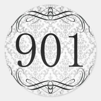 Código de área 901 pegatina redonda