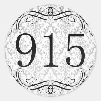 Código de área 915 pegatina redonda
