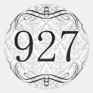 Código de área 927 pegatina redonda