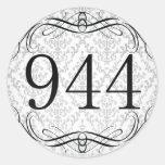Código de área 944 etiquetas redondas