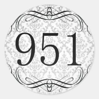 Código de área 951 pegatina redonda