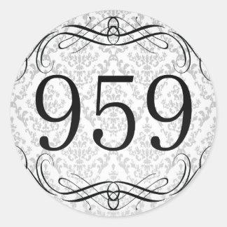 Código de área 959 pegatina redonda