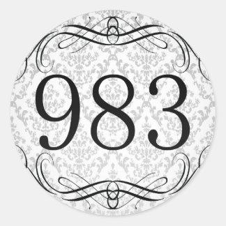 Código de área 983 pegatina redonda