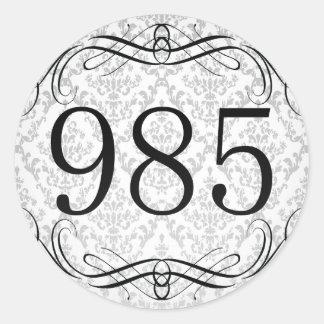 Código de área 985 pegatina redonda