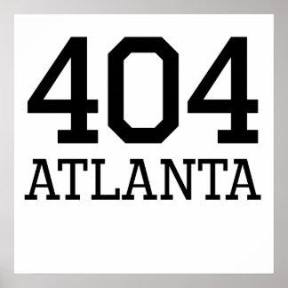 Código de área de Atlanta 404 Impresiones