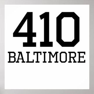 Código de área de Baltimore 410 Posters