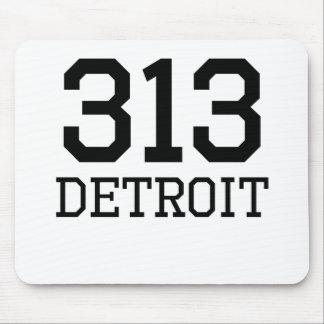 Código de área de Detroit 313 Tapete De Ratón