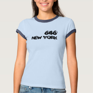 Código de área de Nueva York 646 Playera
