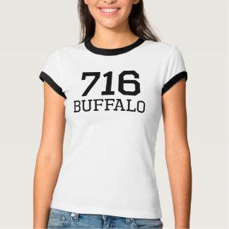 Código de área del búfalo 716 playera
