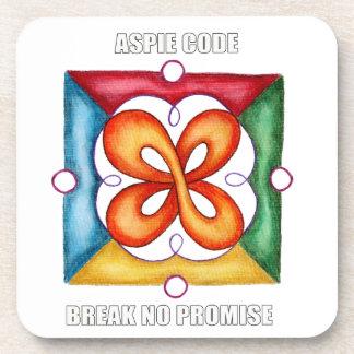 Código de Aspie - no rompa ninguna promesa Posavasos De Bebidas