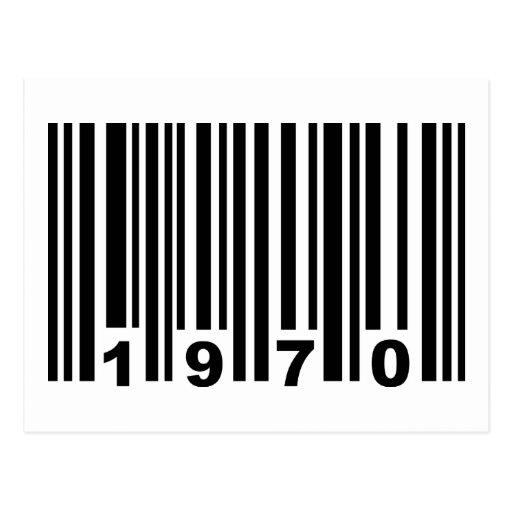 código de barras 1970 postales