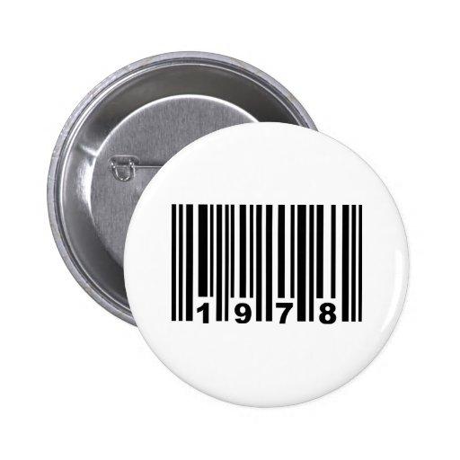 código de barras 1978 pins