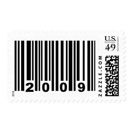 código de barras 2009 timbre postal