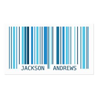 Código de barras - azul tarjetas de visita
