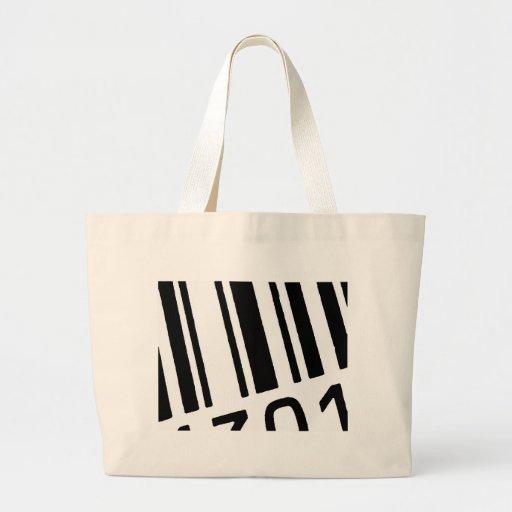 código de barras bolsa tela grande