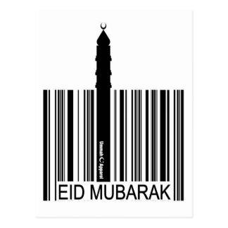 Código de barras de Eid Mubarak Postal