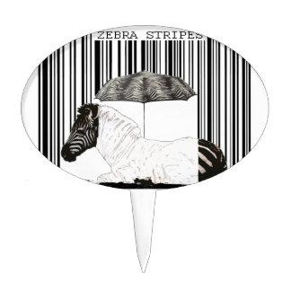 Código de barras de la cebra decoraciones para tartas